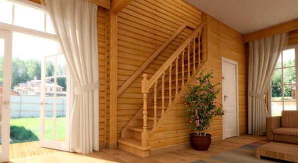 масштабы лестницы на второй этаж