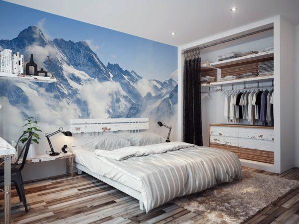 Величественные горы переносят спальню на другой уровень восприятия