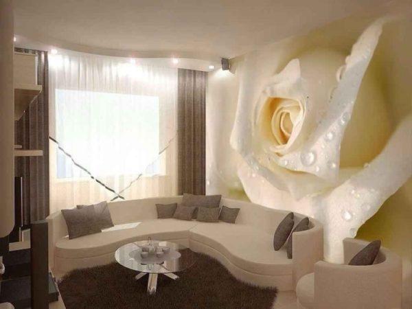 Гостиная комната в стиле 3d формата