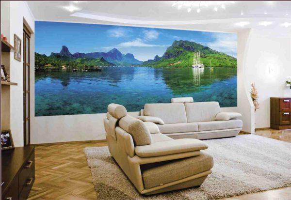 Спокойный морской пейзаж- отличный фон для отдыха в гостиной