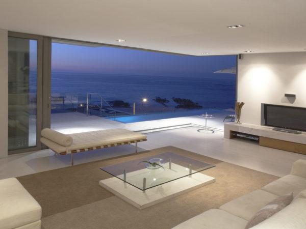 Фотообои тихий вечер у моря в любой гостиной