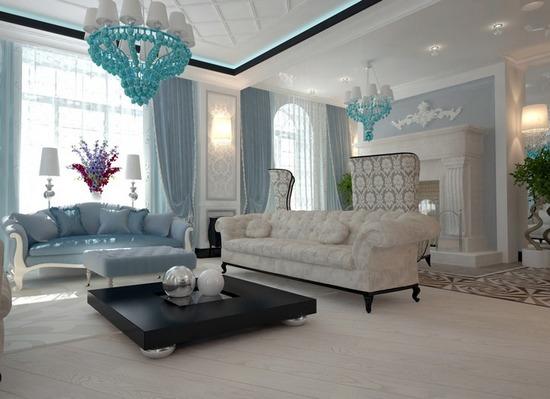 стиль арт-деко в интерьере гостиной комнаты