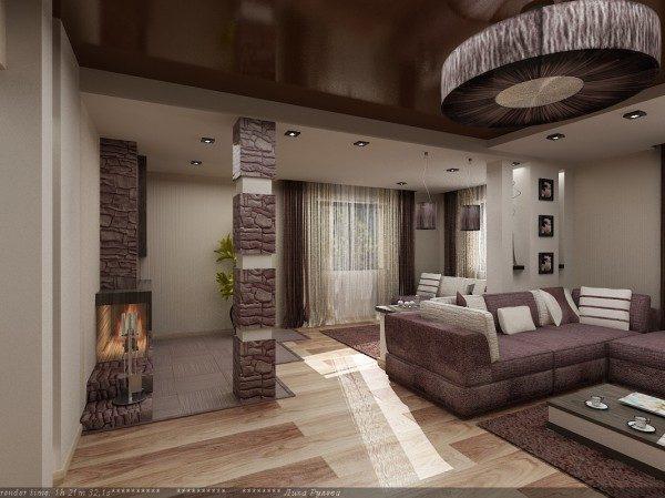 гостиная с холлом