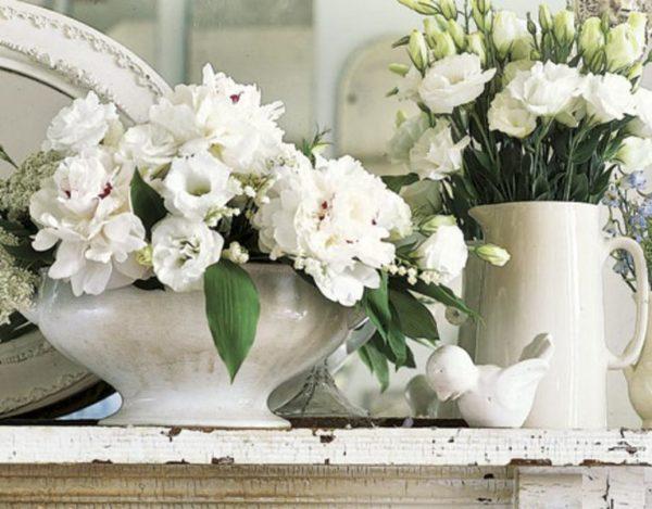 Прованс стиль подчеркнут свежие цветы