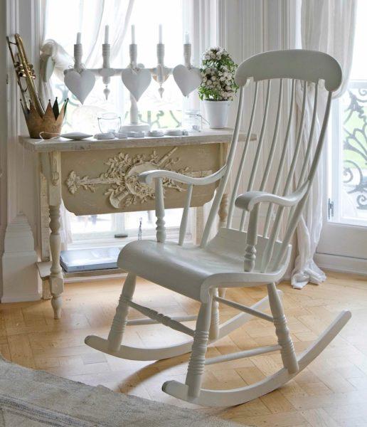 Гостиная в белом цвете в стиле Прованс