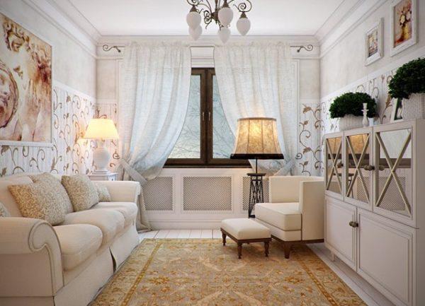 Небольшая уютная гостиная в стиле Прованс