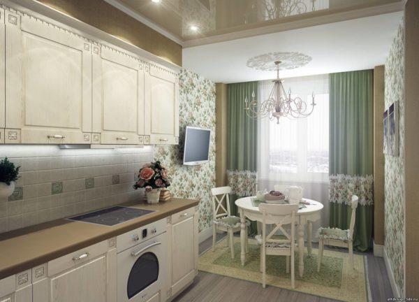 Столовая-кухня в стиле Прованс