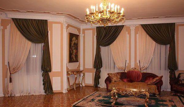 оригинальное решение для гостиной классического стиля