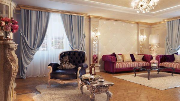шторы в интерьере современной гостиной