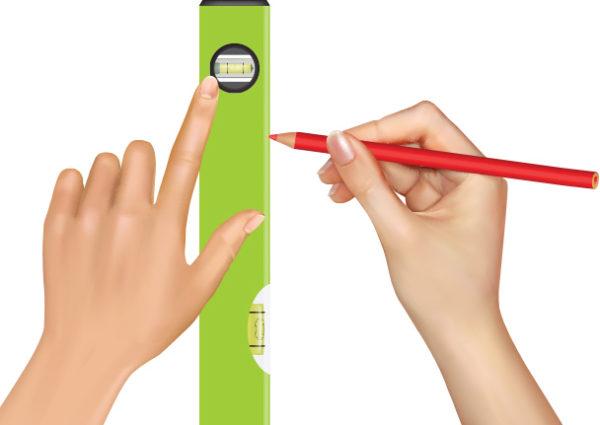 расзметка полоски карандашом
