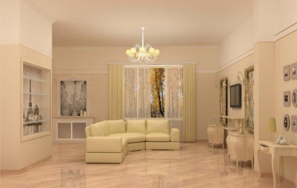 бежевые оттенки для оформления гостиной в современном стиле