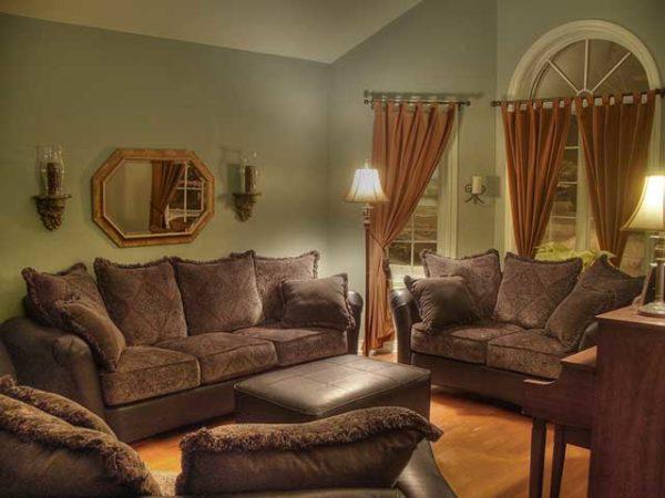оригинальный коричневый мебельный гарнитур