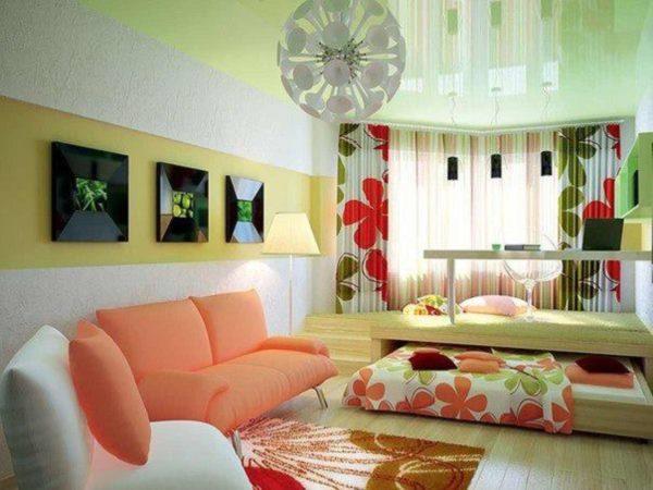 яркие детали в дизайне современной гостиной