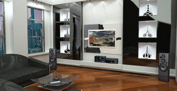 цвет телевизора в гостиной