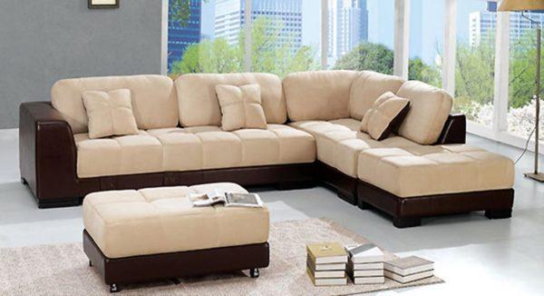 светлая мягкая мебель в гостиную