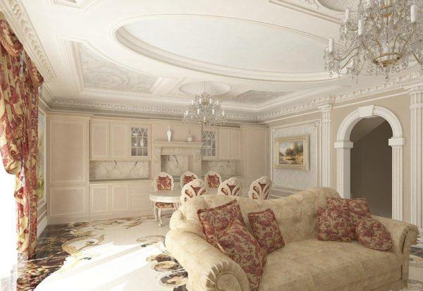 красивые узоры в гостиной