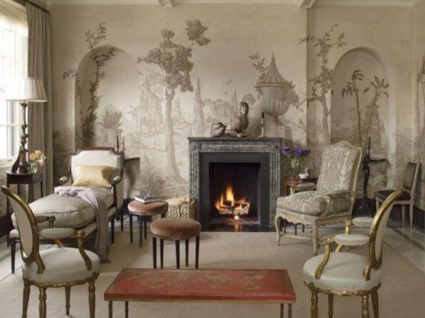Ручная роспись стен - идеальное оформление гостинной