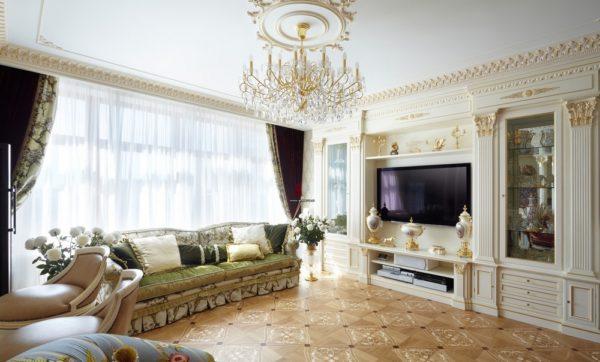 Красивый и уютный пол для гостиной- паркет