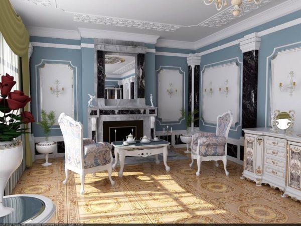 Васильковые панели для оформления комнаты