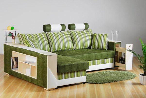 Универсальный диван встроеным шкафчиком